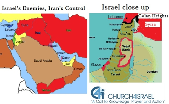 Iran control of Israels Borders